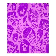 Purple Skull Sketches Shower Curtain 60  X 72  (medium)  by ArtistRoseanneJones