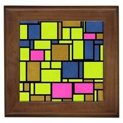 Squares And Rectangles Framed Tile by LalyLauraFLM