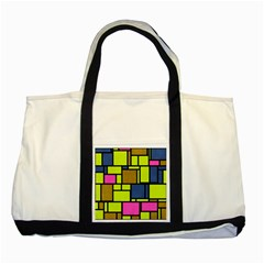 Squares And Rectangles Two Tone Tote Bag by LalyLauraFLM
