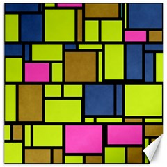Squares And Rectangles Canvas 16  X 16  by LalyLauraFLM