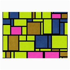 Squares And Rectangles Large Glasses Cloth (2 Sides) by LalyLauraFLM