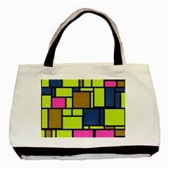 Squares And Rectangles Basic Tote Bag (two Sides) by LalyLauraFLM