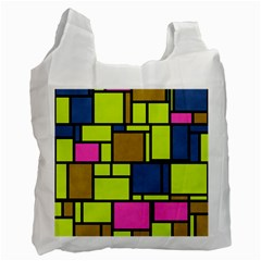 Squares And Rectangles Recycle Bag (two Side) by LalyLauraFLM