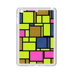 Squares and rectangles Apple iPad Mini 2 Case (White) by LalyLauraFLM
