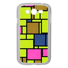 Squares And Rectangles Samsung Galaxy Grand Duos I9082 Case (white) by LalyLauraFLM