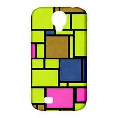Squares And Rectangles Samsung Galaxy S4 Classic Hardshell Case (pc+silicone) by LalyLauraFLM