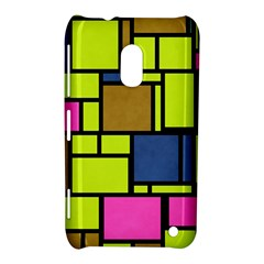 Squares And Rectangles Nokia Lumia 620 Hardshell Case by LalyLauraFLM