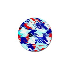 Wavy Chaos Golf Ball Marker by LalyLauraFLM