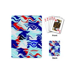 Wavy Chaos Playing Cards (mini) by LalyLauraFLM
