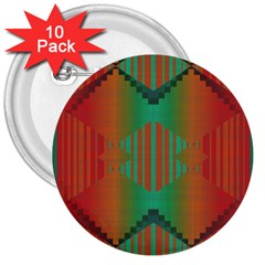 Striped Tribal Pattern 3  Button (10 Pack) by LalyLauraFLM