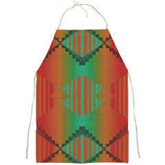 Striped Tribal Pattern Full Print Apron by LalyLauraFLM