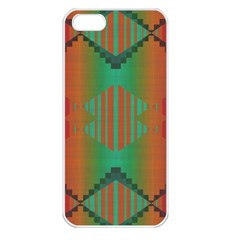 Striped Tribal Pattern Apple Iphone 5 Seamless Case (white) by LalyLauraFLM