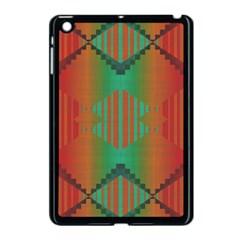 Striped Tribal Pattern Apple Ipad Mini Case (black) by LalyLauraFLM