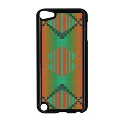 Striped Tribal Pattern Apple Ipod Touch 5 Case (black) by LalyLauraFLM