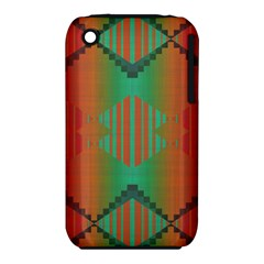Striped Tribal Pattern Apple Iphone 3g/3gs Hardshell Case (pc+silicone) by LalyLauraFLM