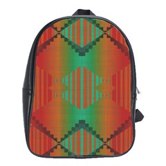Striped Tribal Pattern School Bag (xl) by LalyLauraFLM