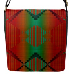 Striped Tribal Pattern Flap Closure Messenger Bag (s) by LalyLauraFLM