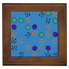 Circles And Snowflakes Framed Tile by LalyLauraFLM