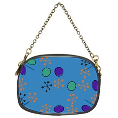 Circles And Snowflakes Chain Purse (two Sides) by LalyLauraFLM