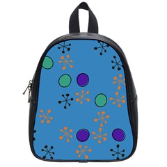 Circles And Snowflakes School Bag (small) by LalyLauraFLM