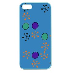 Circles And Snowflakes Apple Seamless Iphone 5 Case (color) by LalyLauraFLM
