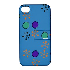 Circles And Snowflakes Apple Iphone 4/4s Hardshell Case With Stand by LalyLauraFLM