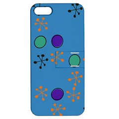 Circles And Snowflakes Apple Iphone 5 Hardshell Case With Stand by LalyLauraFLM