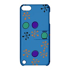 Circles And Snowflakes Apple Ipod Touch 5 Hardshell Case With Stand by LalyLauraFLM