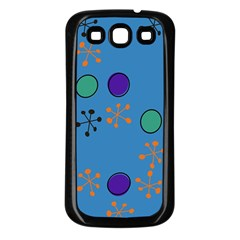 Circles And Snowflakes Samsung Galaxy S3 Back Case (black) by LalyLauraFLM