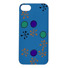 Circles And Snowflakes Apple Iphone 5s Hardshell Case by LalyLauraFLM