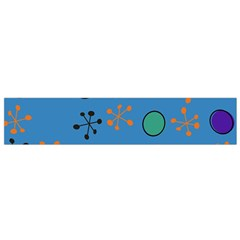 Circles And Snowflakes Flano Scarf by LalyLauraFLM