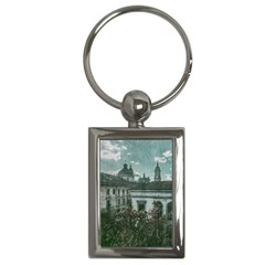 Colonial Architecture At Historic Center Of Bogota Colombia Key Chains (rectangle)  by dflcprints
