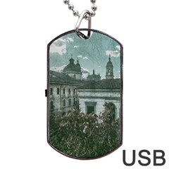 Colonial Architecture At Historic Center Of Bogota Colombia Dog Tag Usb Flash (two Sides)  by dflcprints