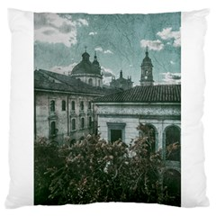 Colonial Architecture At Historic Center Of Bogota Colombia Large Flano Cushion Cases (one Side)  by dflcprints