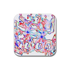 Soul Colour Light Rubber Square Coaster (4 Pack)  by InsanityExpressedSuperStore
