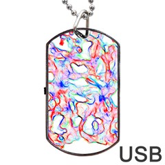 Soul Colour Light Dog Tag Usb Flash (two Sides)  by InsanityExpressedSuperStore