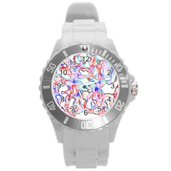 Soul Colour Light Round Plastic Sport Watch (l) by InsanityExpressedSuperStore