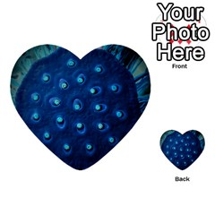 Blue Plant Multi Purpose Cards (heart)  by InsanityExpressedSuperStore