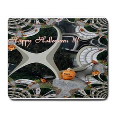 Creepy Pumpkin Fractal Large Mousepads by gothicandhalloweenstore