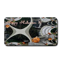 Creepy Pumpkin Fractal Medium Bar Mats by gothicandhalloweenstore