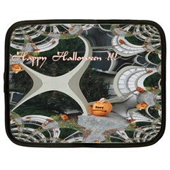 Creepy Pumpkin Fractal Netbook Case (xxl)  by gothicandhalloweenstore