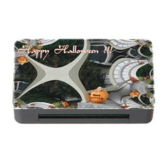 Creepy Pumpkin Fractal Memory Card Reader With Cf by gothicandhalloweenstore