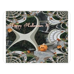 Creepy Pumpkin Fractal Double Sided Flano Blanket (large)