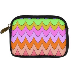 Pastel waves pattern Digital Camera Leather Case by LalyLauraFLM