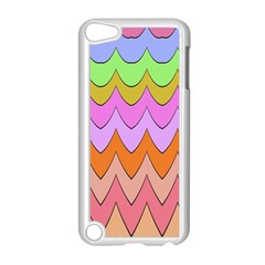 Pastel Waves Pattern Apple Ipod Touch 5 Case (white) by LalyLauraFLM