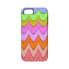 Pastel Waves Pattern Apple Iphone 5 Classic Hardshell Case (pc+silicone) by LalyLauraFLM
