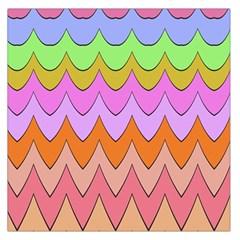 Pastel Waves Pattern Satin Scarf