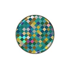 Rhombus pattern in retro colors Hat Clip Ball Marker (10 pack) by LalyLauraFLM