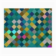 Rhombus Pattern In Retro Colors Small Glasses Cloth by LalyLauraFLM
