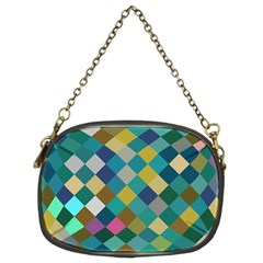 Rhombus Pattern In Retro Colors Chain Purse (two Sides) by LalyLauraFLM